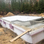 ICF Pool before finishing