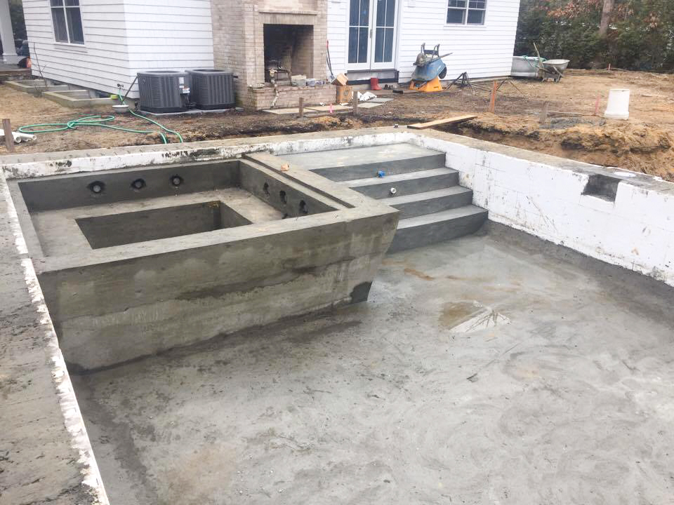 Diy cinder block pool diy do it your self for Icf pool construction