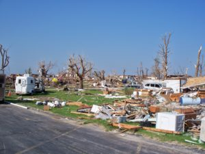 tornado damage in Joplin., MO