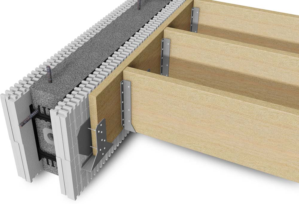 Icf connectors for Icf concrete floors