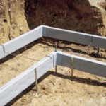 before concrete form-a-drain form