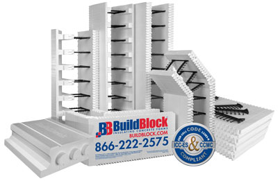 Buildblock insulating concrete forms icfs for Foam basement forms