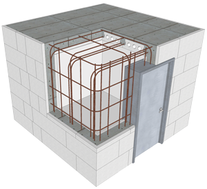 Buildblock saferoom plans construction for How to build a gun safe room