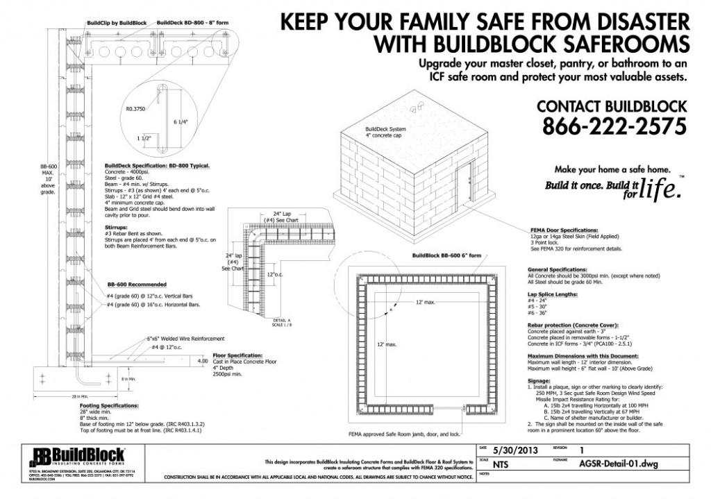 BuildBlock Safe Room Detail Sheet