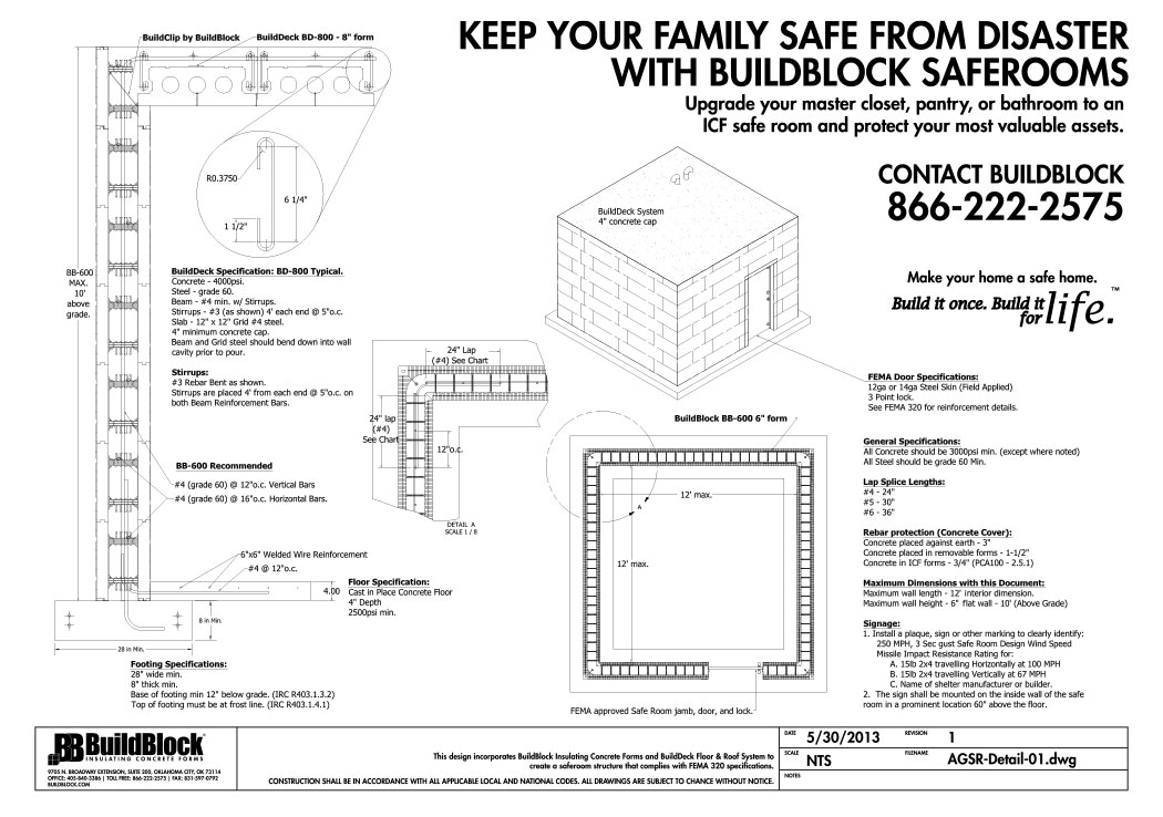 Tornado hurricane icf safe rooms for How to build a safe room in your basement