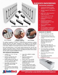 BuildLock Knockdown Insulating Concrete Forms (ICFs) System