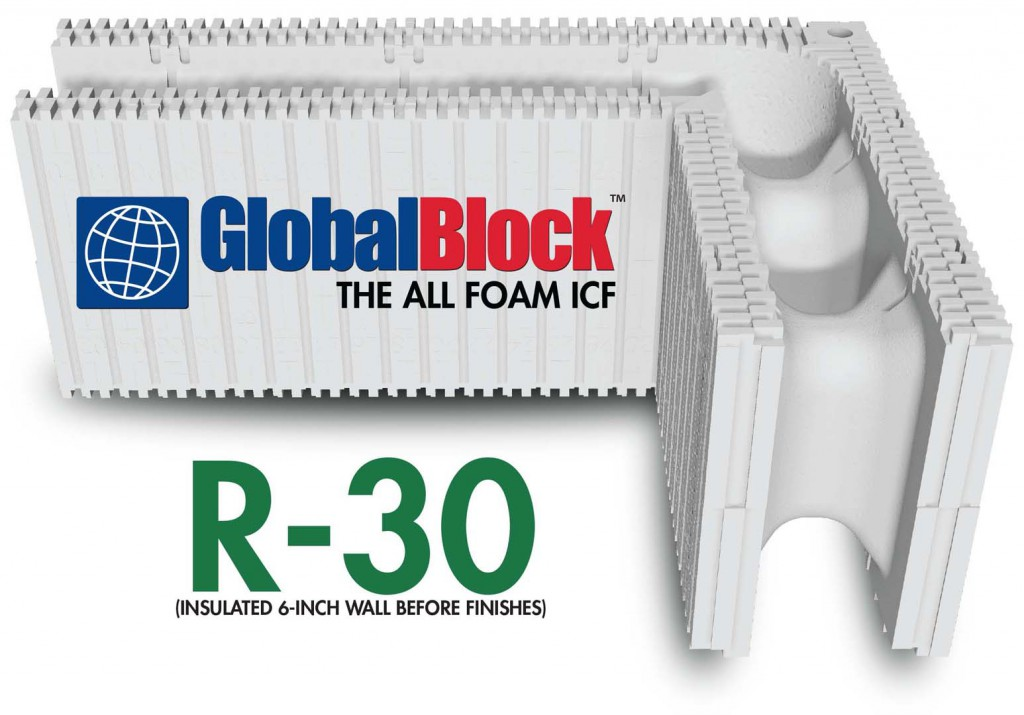 Gloalblock all foam icf buildblock insulating concrete forms for Icf home kits