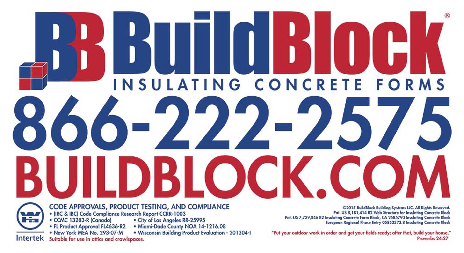 2015 BuildBlock Product Label