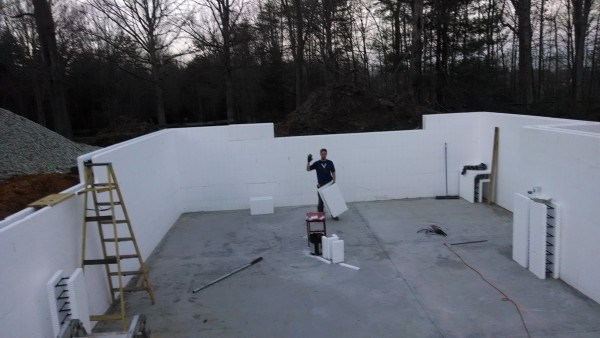 Diy plowman home using buildblock icfs for Icf home kits
