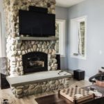 Puddingstone Fireplace