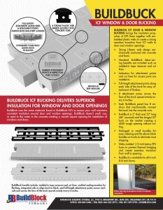 2016 BuildBuck ICF Door and Window Bucking Brochure