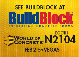 BuildBlock ICFs Exhibiting at 2016 World of Concrete Booth N2104