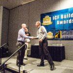 James Whitt accepts award