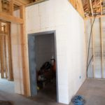 Interior safe room before finishing