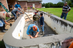 Working on ICF pool