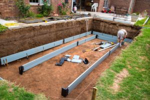 ICF pool foundation building