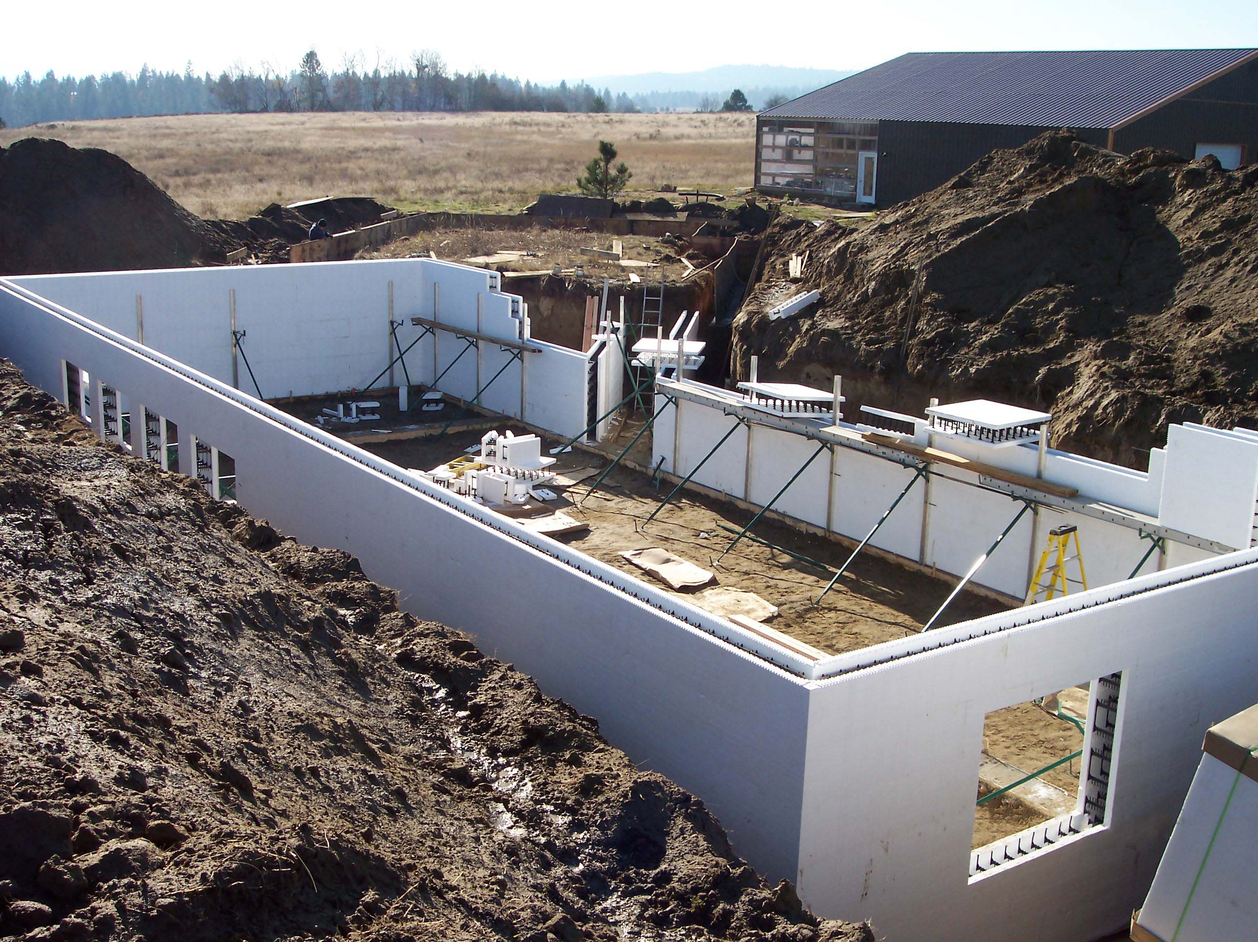 Why build an icf basement with buildblock icfs for Building a basement foundation