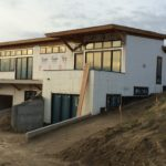 Exterior of the house before finishes