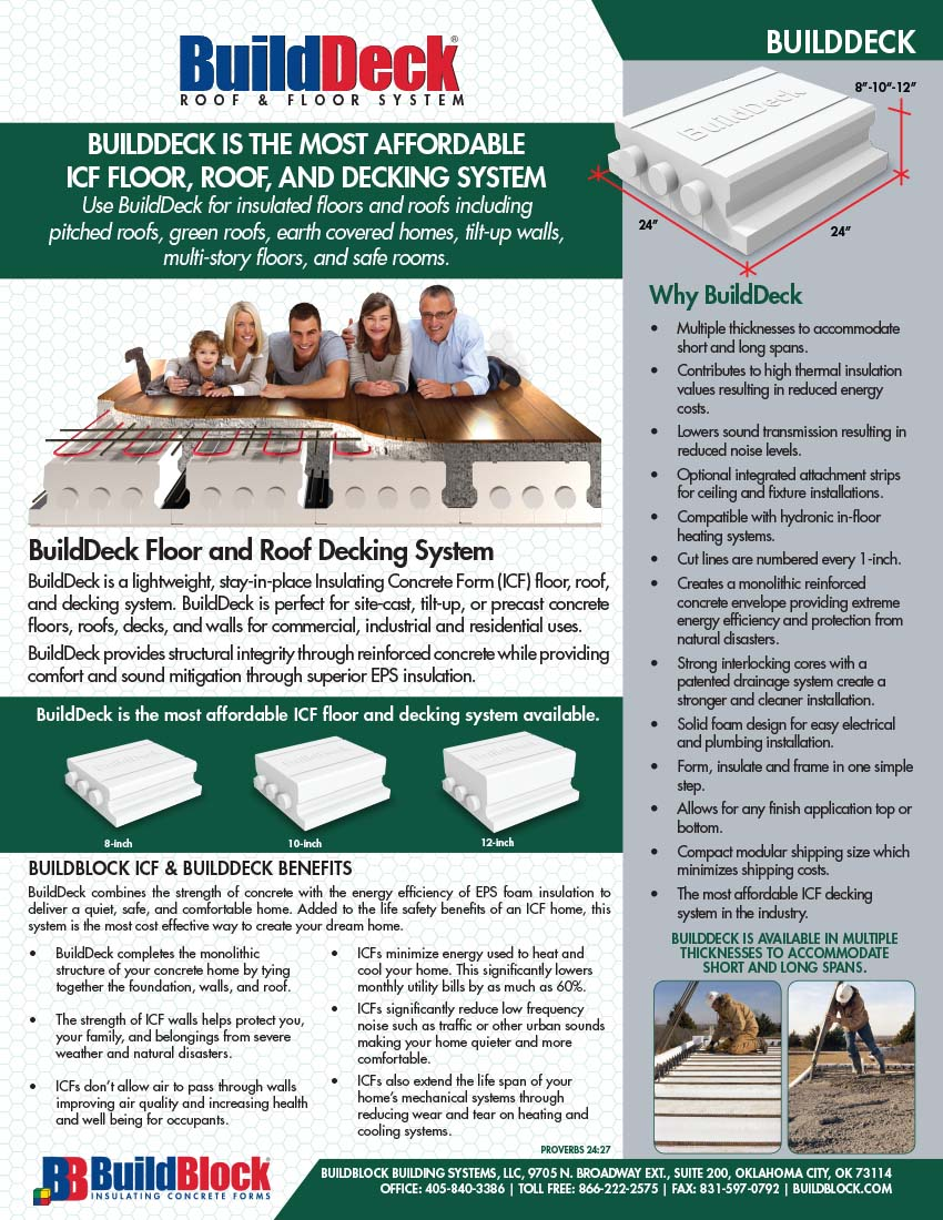 BuildDeck Product Brochure 2014 Page 1