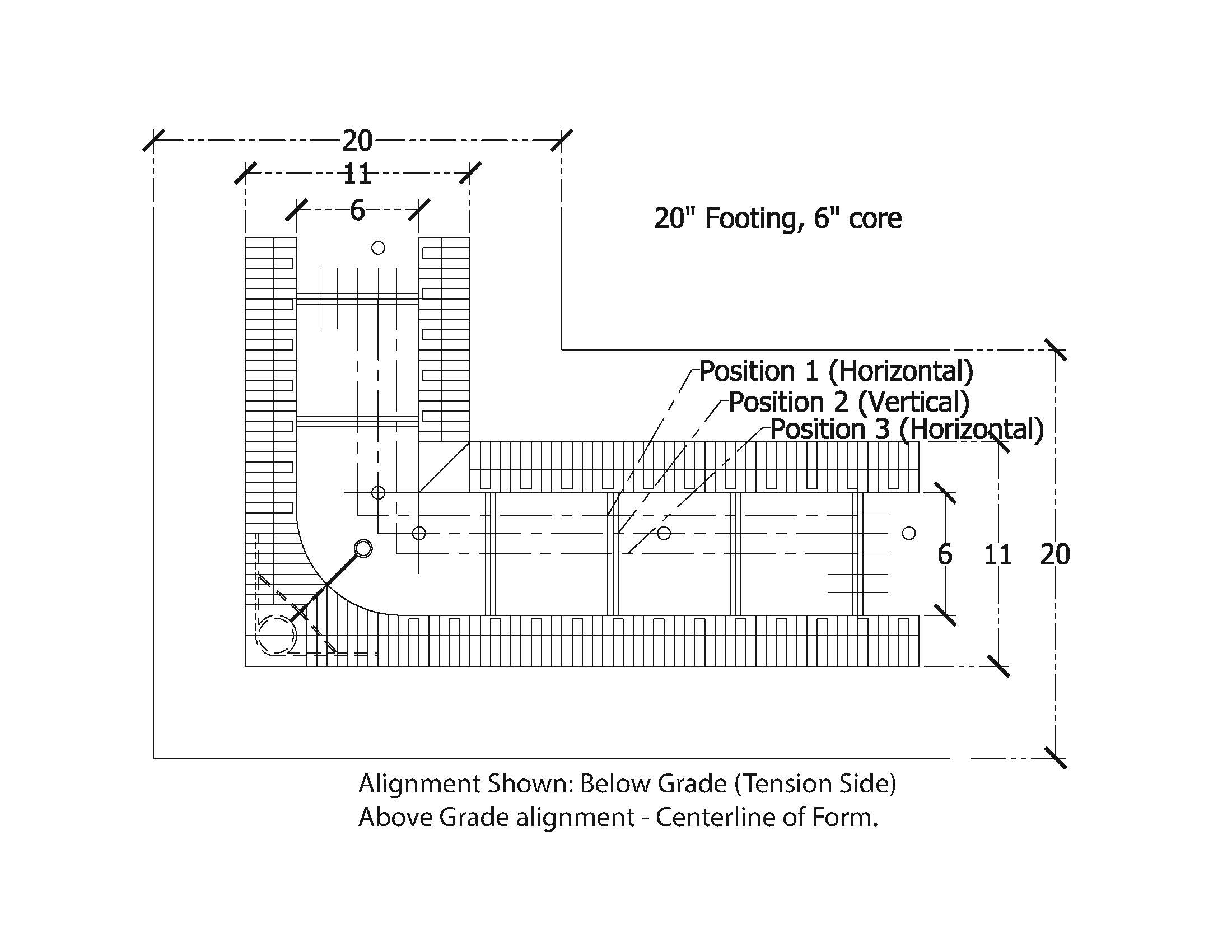 concrete formwork diagram concrete rebar diagram white paper- footing to wall connections