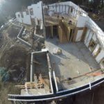 Ariel shot of the project before the concrete pour.