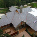 Arial image of the back of the house
