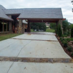 Covered circle driveway