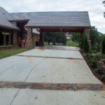 Covered circle driveway