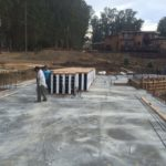BuildBlock being staged on the foundation.