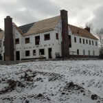 Drew Castle before exterior finish
