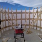 Bracing on curved wall