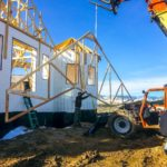P repairing to install roof trusses