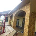 Back deck before stone finish