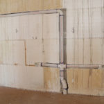 Plumbing chased into an ICF wasll