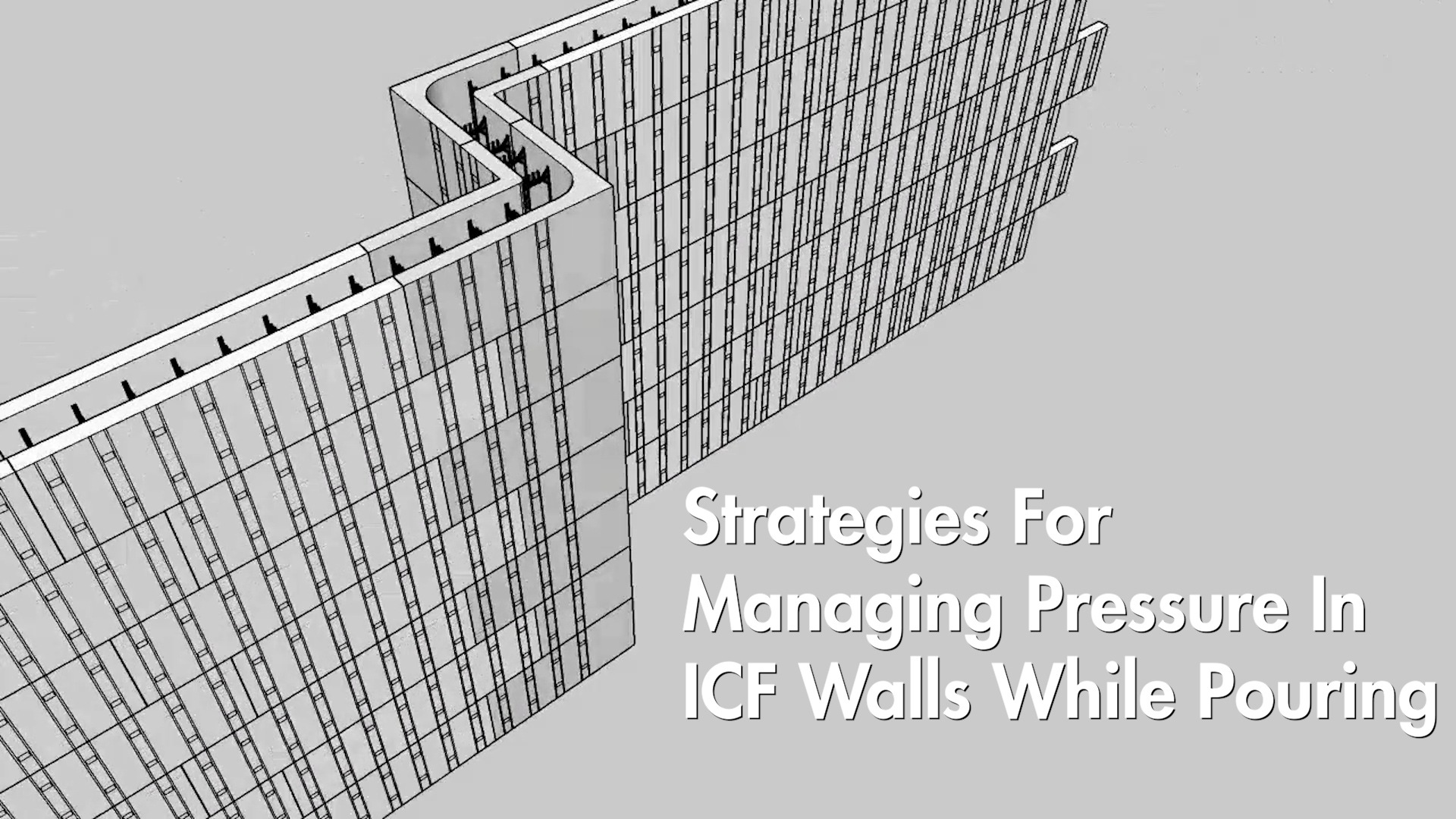Video: Strategies For Managing Pressure In ICF Walls While Pouring