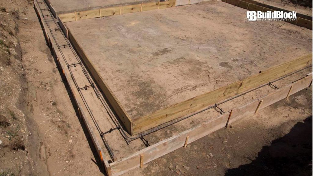 how to build a concrete footing