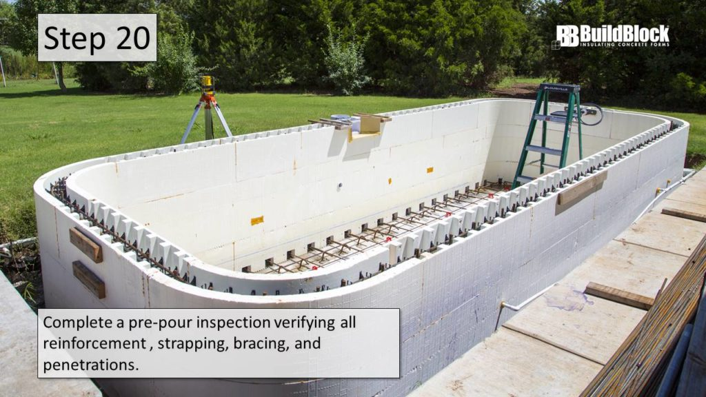 Icf Pool Construction In 25 Steps Buildblock Insulating Concrete Forms