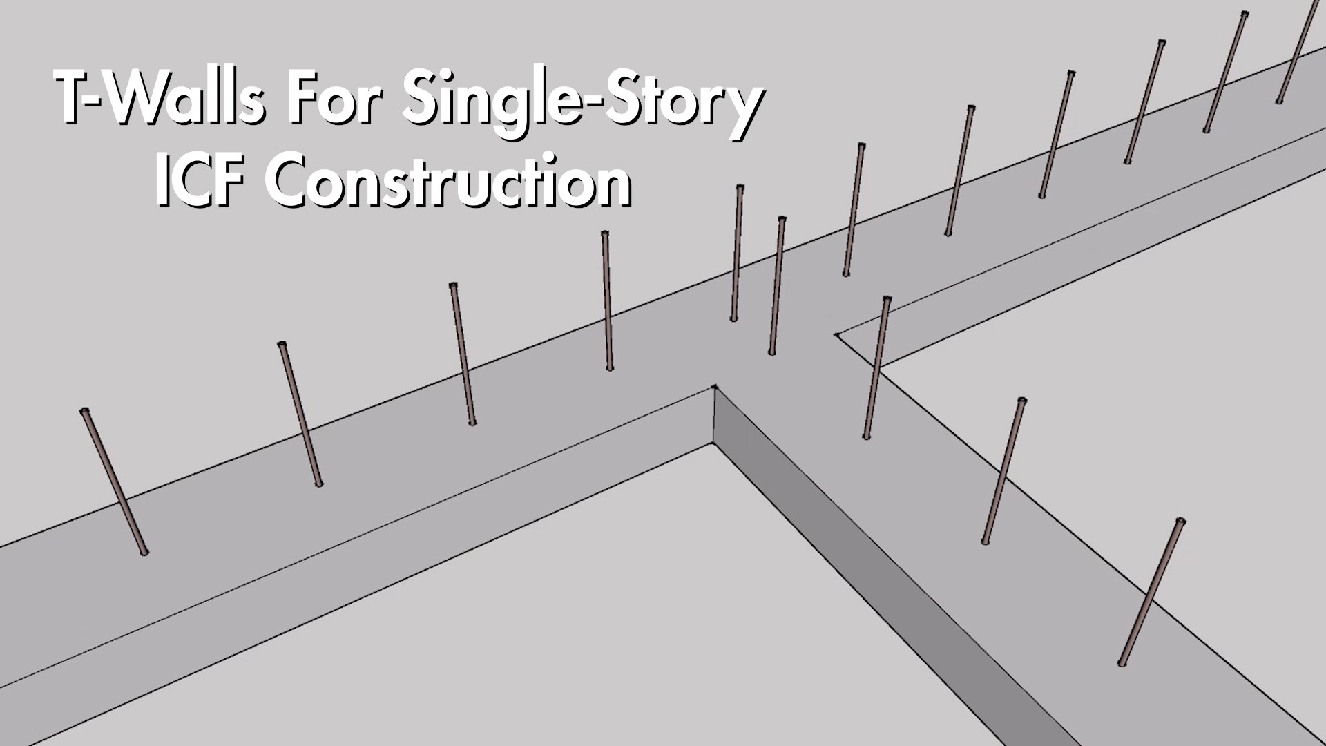 Video: How To Build T-Walls For Single-Story Construction