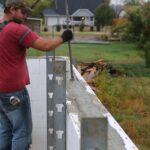 Vibrating concrete inside ICF walls