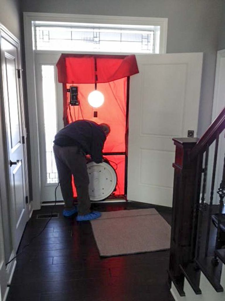 door walls dwelling does the how it ny energy party of code testing blower unit test up air infiltration measure individual