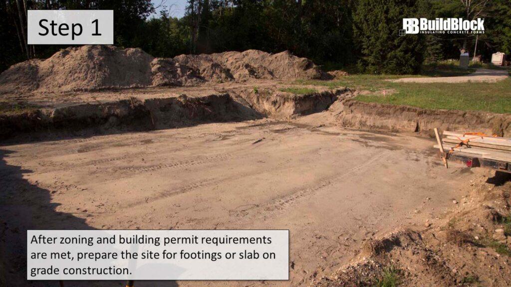 basic icf construction step 1