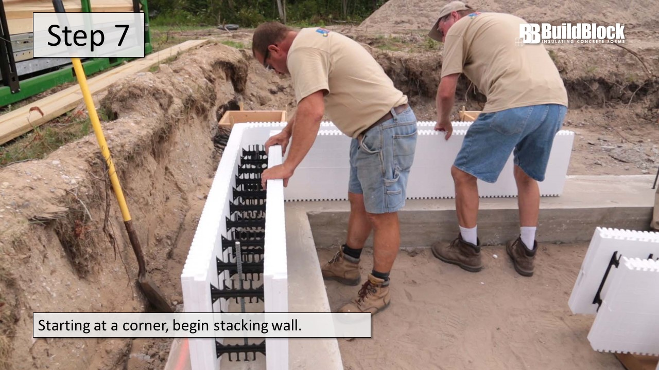 Basic icf construction in 22 steps buildblock insulating for Icf basement construction
