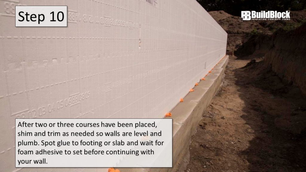basic icf construction step 10