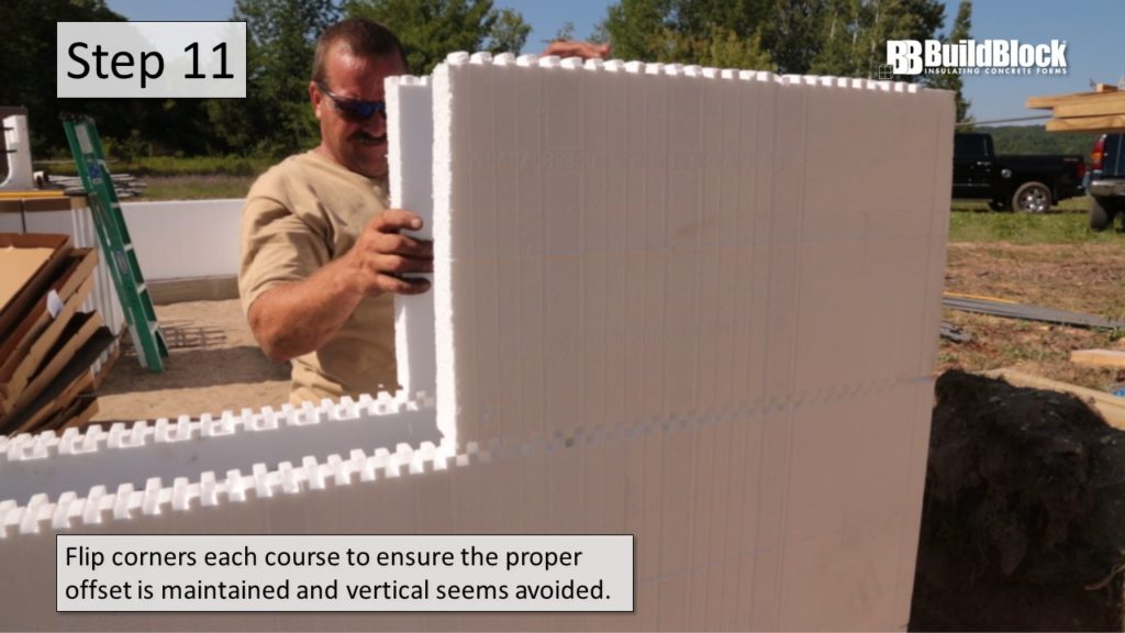 basic icf construction step 11