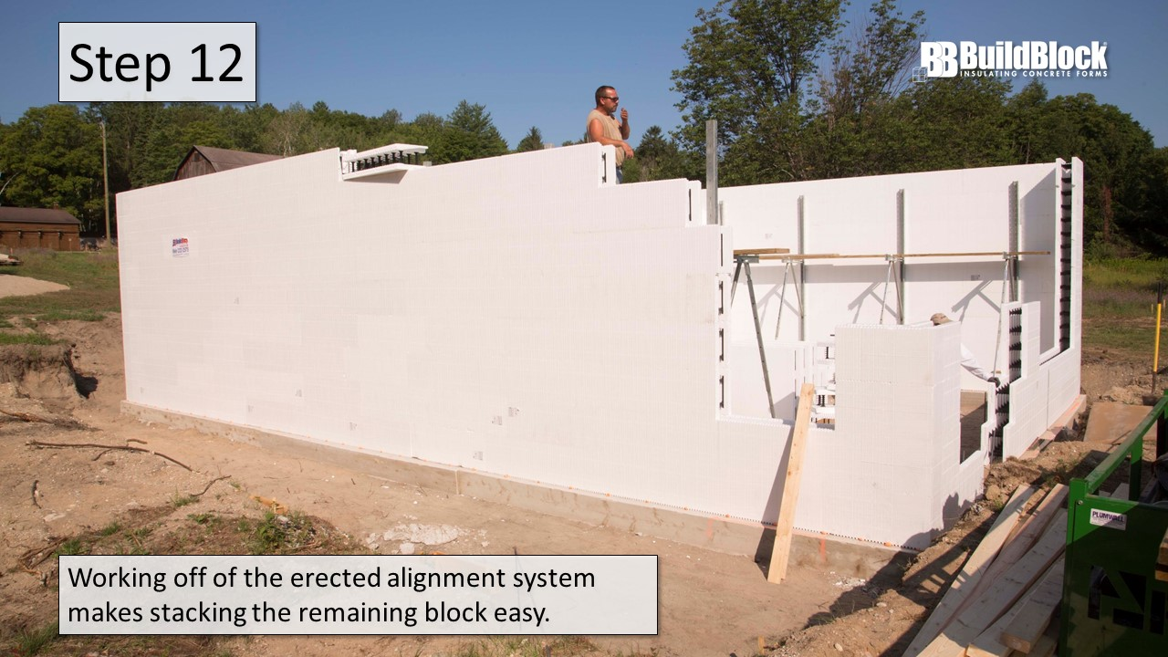 Basic icf construction in 22 steps buildblock insulating for Icf residential construction