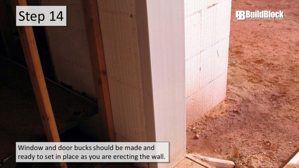 basic icf construction step 14