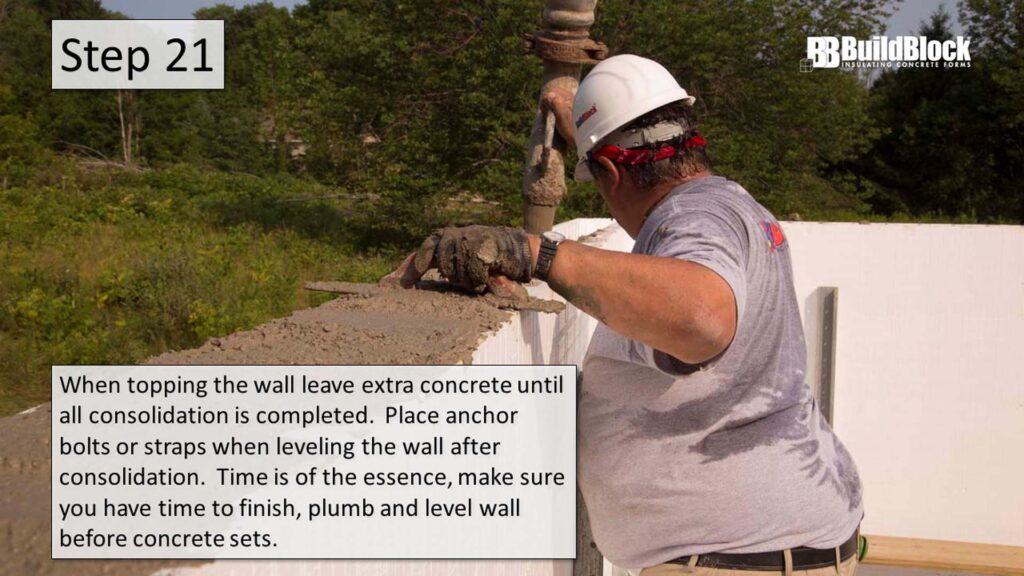 basic icf construction step 21