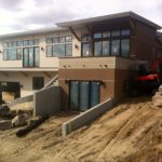 The finished exterior before landscaping